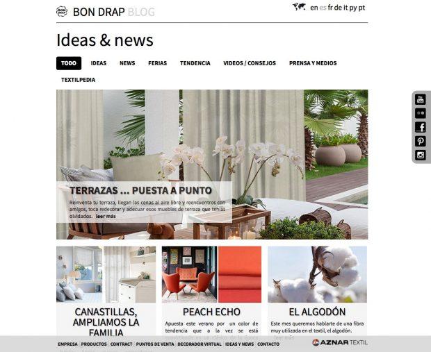 Nueva sección 'Ideas & News' de Bon Drap